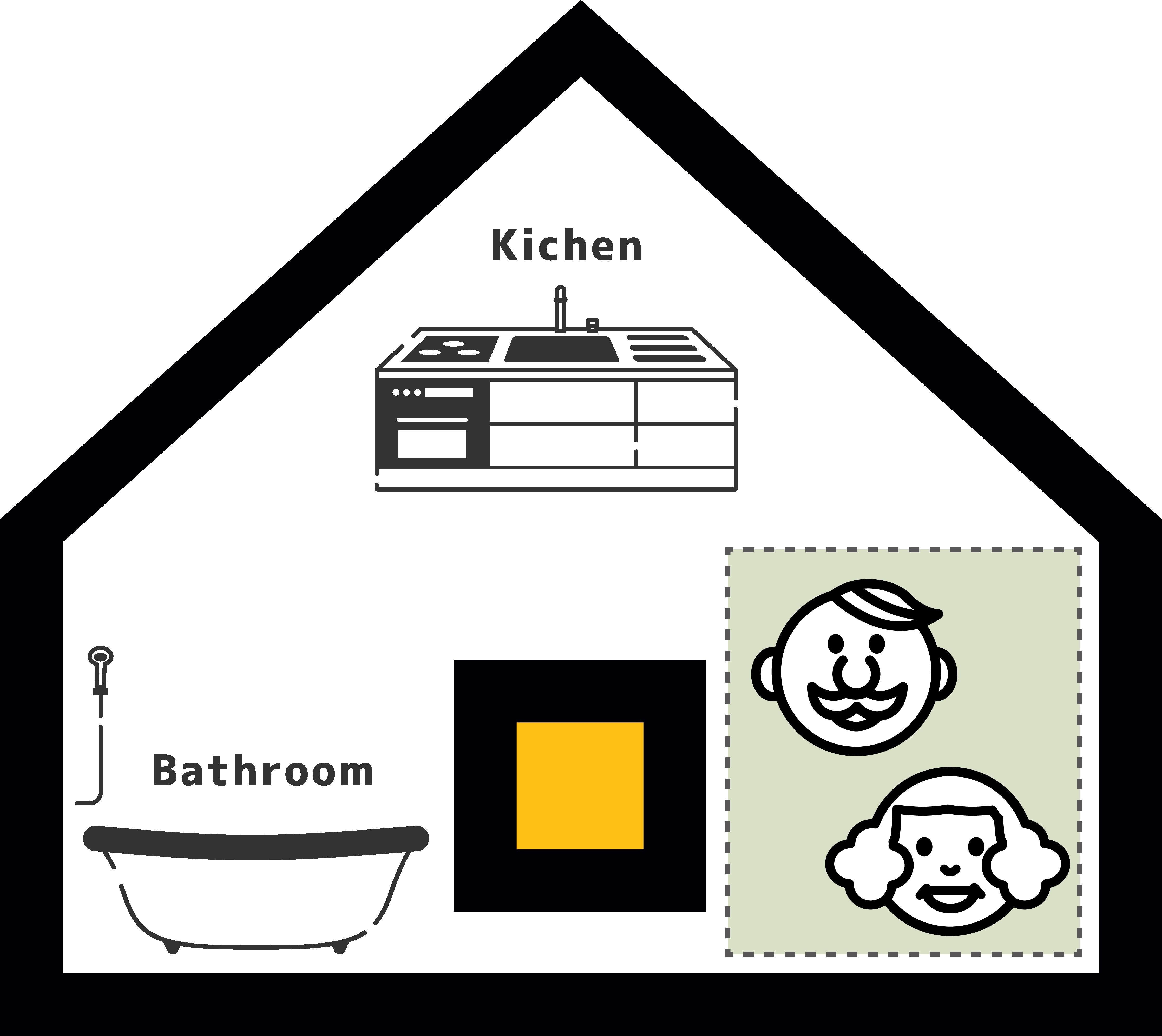 大阪で二世帯住宅パターン1