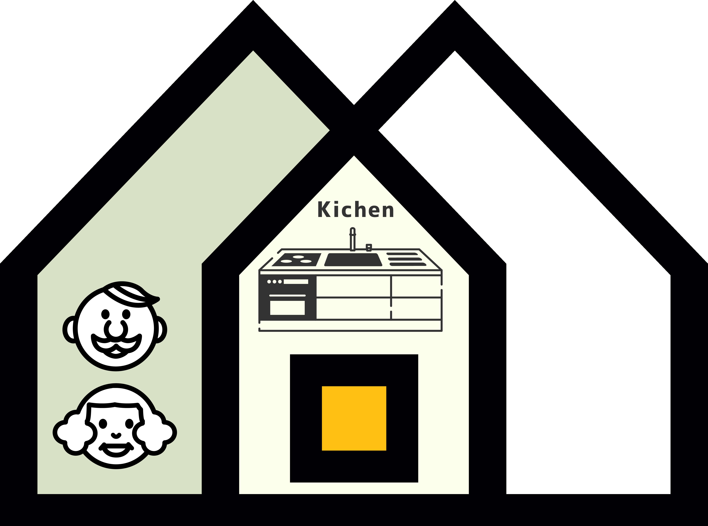大阪で二世帯住宅パターン3
