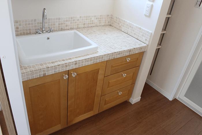大阪市のオーダー家具の洗面所