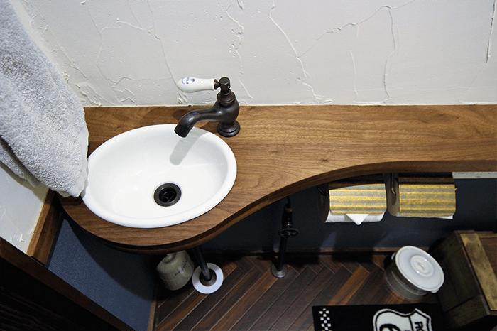 兵庫県のオーダー家具のトイレ