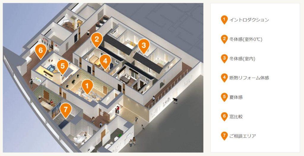 リクシル大阪南港ショールームの住まいスタジオ | 大阪の高性能住宅はリーフアーキテクチャ
